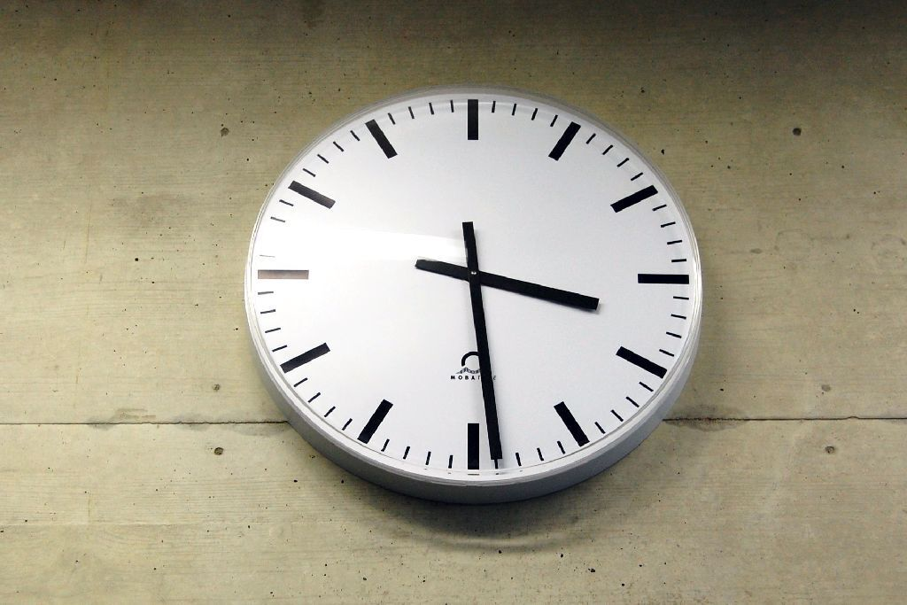 Clock in the SuperC building