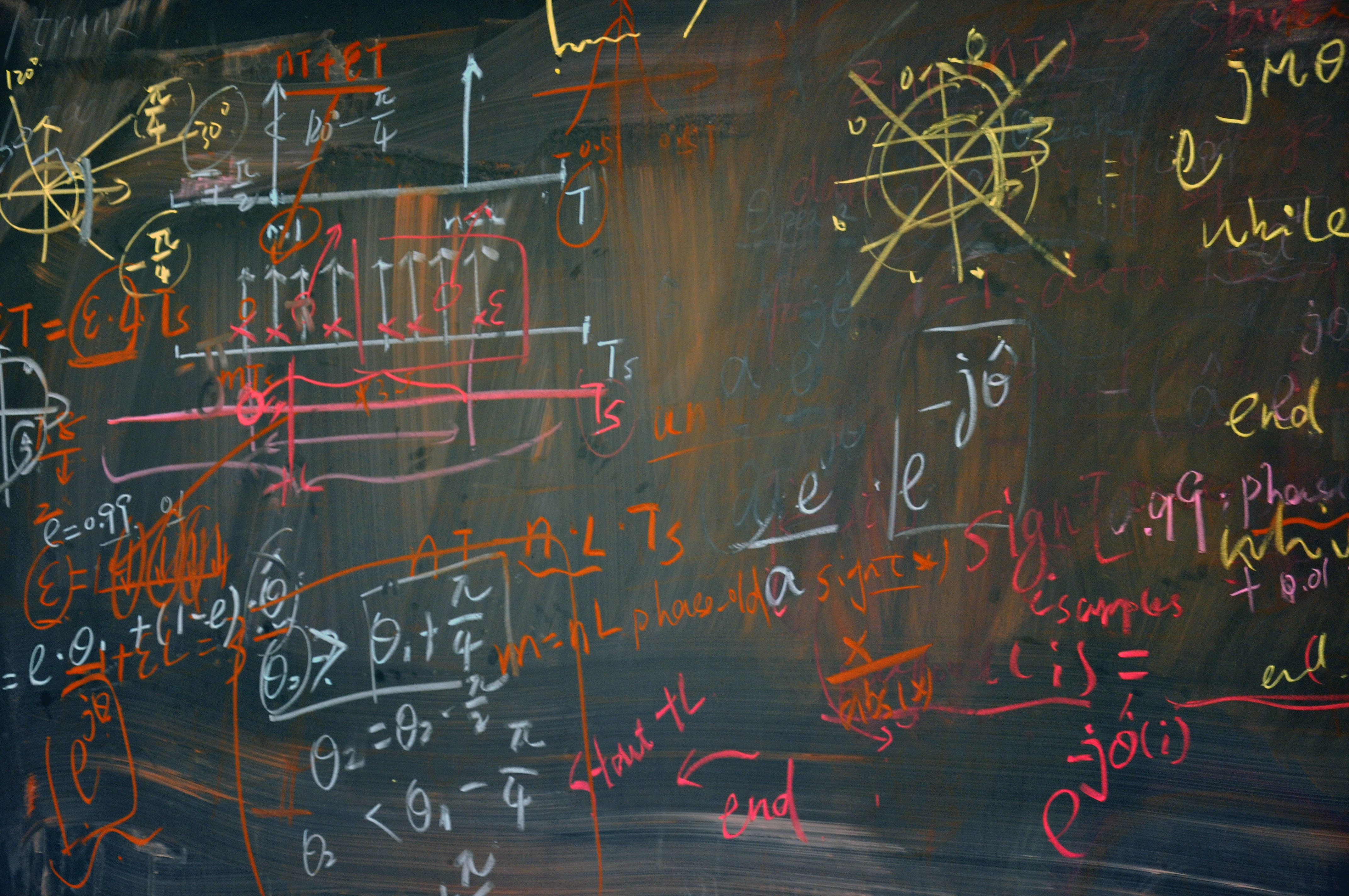 Blackboard with mathformulas