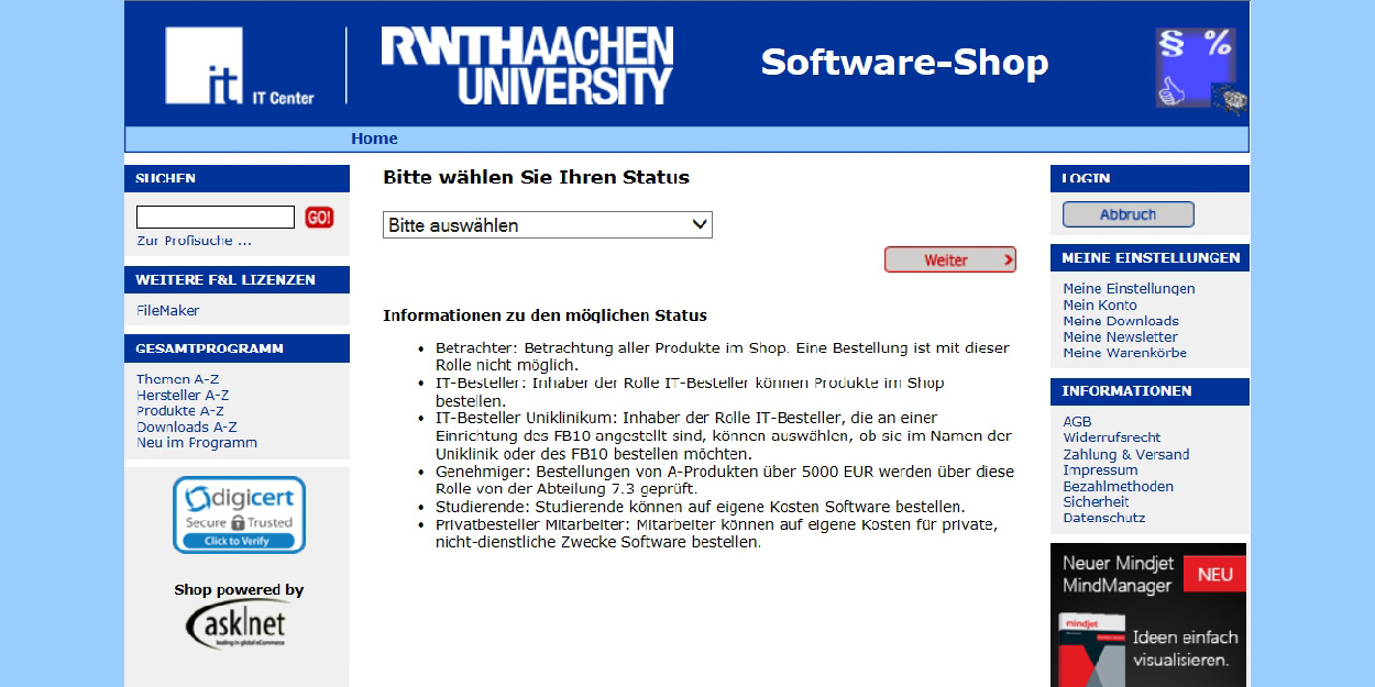Softwareshop Screenshot