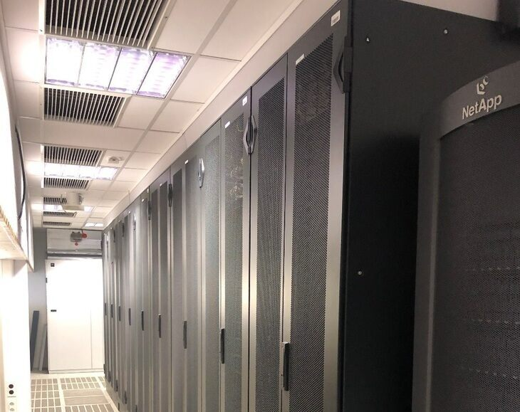 Serverroom at the IT Center location Seffenterweg 23