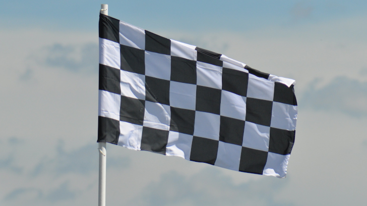 Photo of a chequered flag
