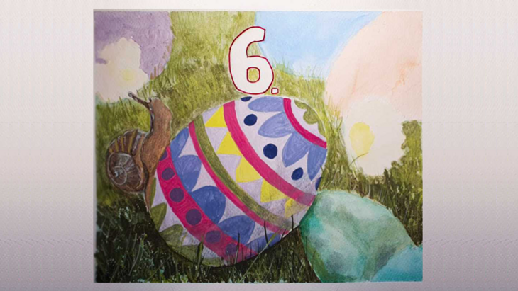 Watercolour of an Easter Egg